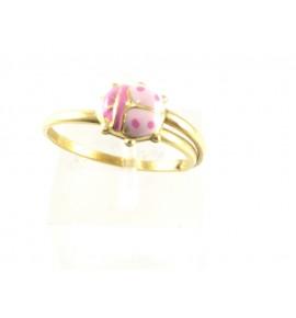 Παιδικό Δαχτυλίδι Πασχαλίτσα - Χρυσό 14 K