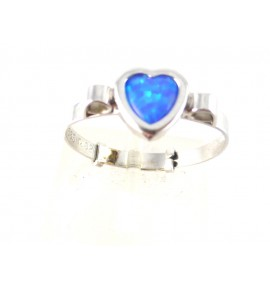 Παιδικό Δαχτυλίδι καρδιά Λευκόχρυσο 14 K