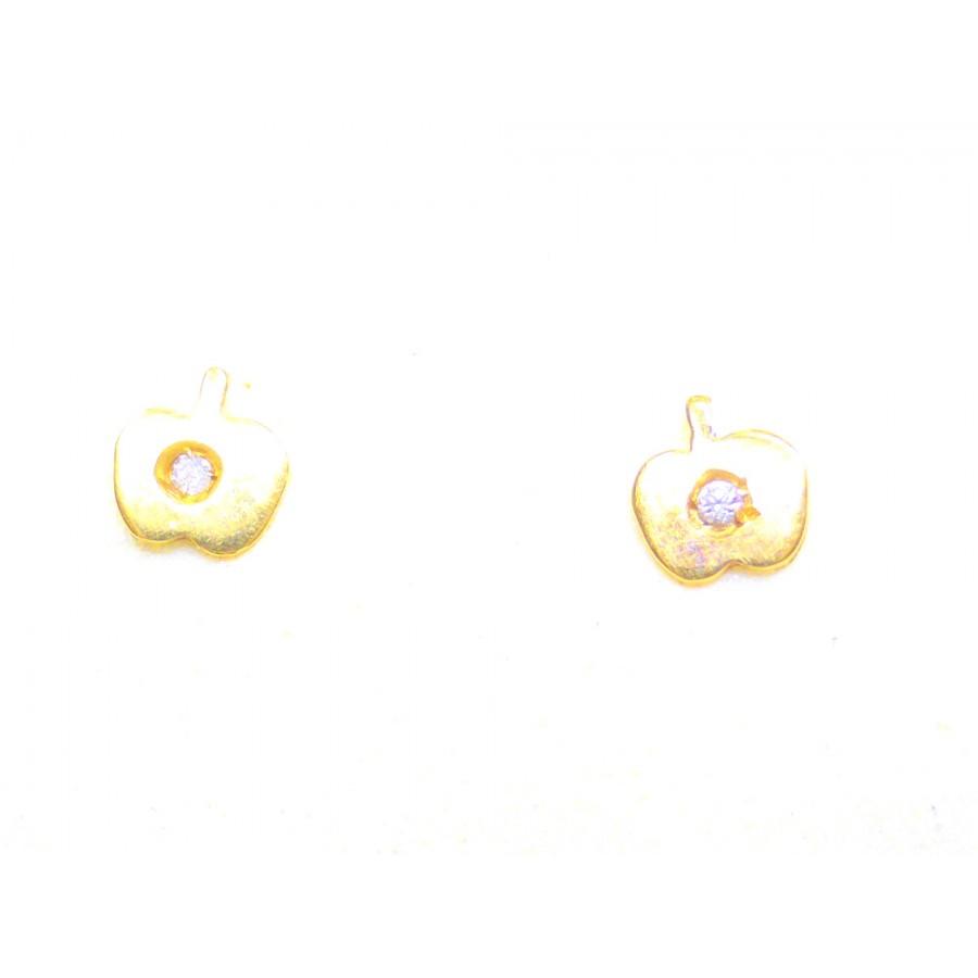 Μηλαράκια Παιδικά Σκουλαρίκια Χρυσό 14 K - kosmimafino.gr 274bf16e6e5