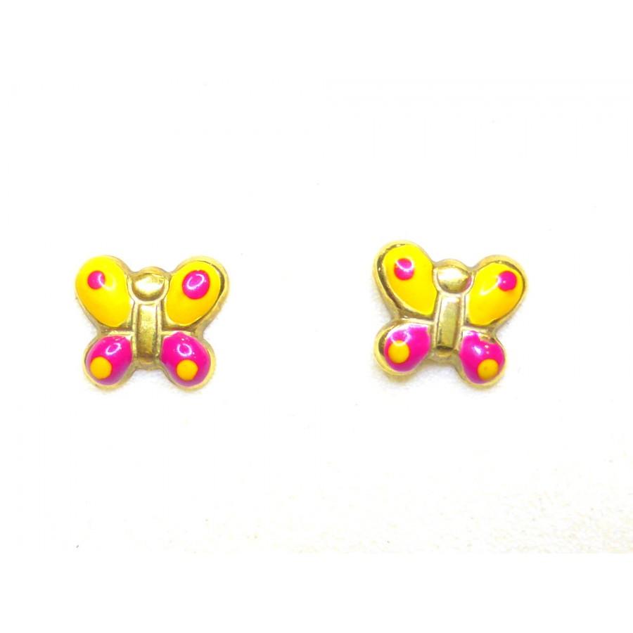 Πεταλούδες Παιδικά Σκουλαρίκια Χρυσό 14 K - kosmimafino.gr 2b83d9cab8a