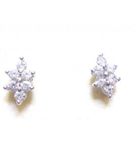 Γυναικεία Σκουλαρίκια Λευκόχρυσο 14 K
