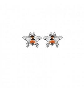 Σκουλαρικια ασημενια χειροποιητα - μελισσουλα