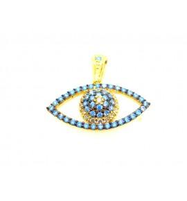 Μάτι Γυναικεία Μοτιφ Χρυσό 9 K