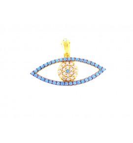 Μάτι Τυρκουάζ Γυναικεία Μοτιφ Χρυσό 9 K