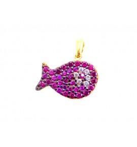 Ψαράκι Γυναικεία Μοτιφ Χρυσό 9 K