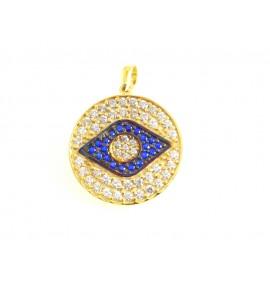 Στρογγυλό με Μάτι στο κέντρο Γυναικεία Μοτιφ Χρυσό 9 K