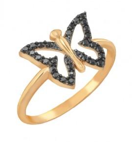 Πεταλούδα Γυναικείo Δαχτυλίδι Ρόζ Χρυσό 9 K