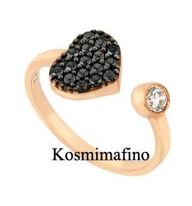 Καρδιά Γυναικείo Δαχτυλίδι Ρόζ Χρυσό
