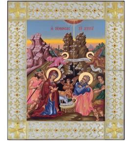 ΜΕΓΑΛΗ ΕΙΚΟΝΑ ΑΣΗΜΕΝΙΑ - ΓΕΝΝΗΣΗ ΤΟΥ ΧΡΙΣΤΟΥ 49 x 59