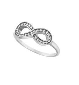 """""""Άπειρο"""" Γυναικείo Δαχτυλίδι Λευκόχρυσο 9 K"""